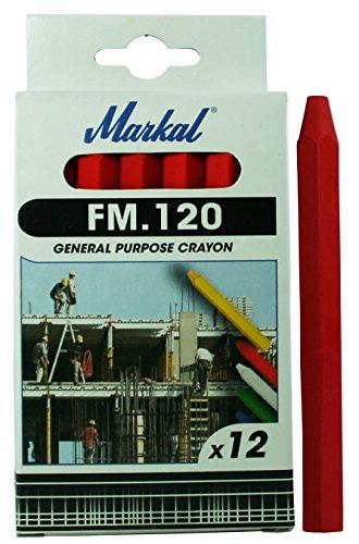 MARKAL 44010300 FM.120 - Lote de tizas, 12 unidades, color rojo