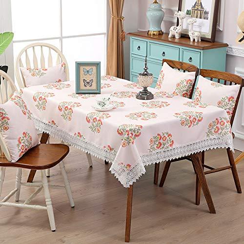 Home's Baumwolle Leinen Tee Tisch Esstisch Tuch Einfache Kunst Wischen Sauber Tischdecke Für Gartentisch150x215cm