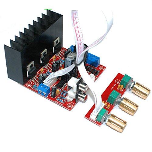 Hakeeta versterkerbouwset, versterkerplatine, computer-luidspreker-stereo subwoofer-printplaat 2.1 mini-versterker 3-kanaals luidspreker-DIY-onderdelen met thermische uitschakeling modulaire vervanging