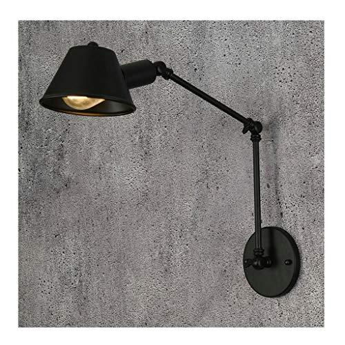 A-ZHP W. Lámpara de Pared Estilo Americano Retro Loft Viento Industrial Sala de Estar Pasillo Escalera Dormitorio Brazo Largo Lámpara de Pared retráctil [Clase de energía A ++]