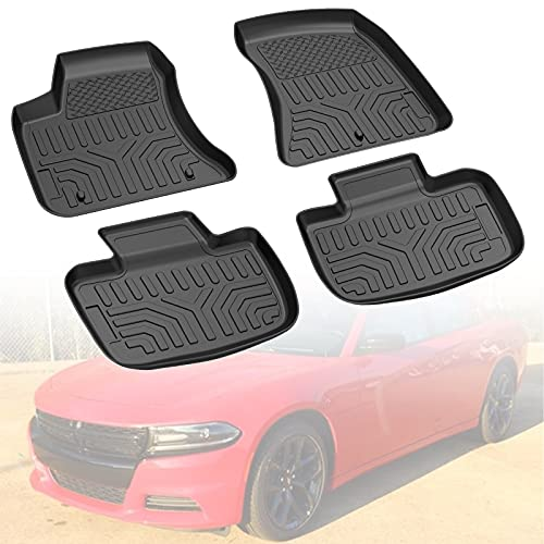 Floor Mat Liner Compatible with 2011-2021 Charger RWD/Chrysler 300 RWD, Medesasi OEM Front & 2nd Seat Floor Mats Liners, with 1st Row Bucket Seat, All-Weather Guard