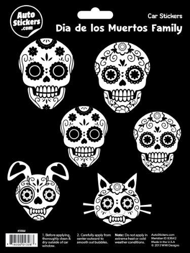 WMI Designs (10064) Dia De Los Muertos Family Stickers