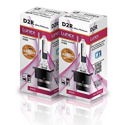 Lunex D2R Xenarc Phare Lampe au xénon ampoule de rechange (6000K)