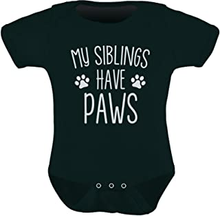 Tstars - My Siblings Have Paws Funny One-Piece Infant Baby Bodysuit