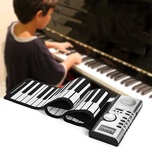Best Buy! 61 Keys Portable Flexible Roll Up Electronic Soft Keyboard Piano with Speakers.