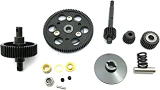 ZHANGHONGWEI Steel Drive Transmission Straight Gears Set Fit for 1/10 RC Crawler Car AXIAL SCX10 Wraith Gearbox Parts (Col...