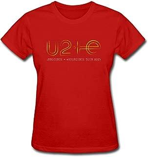 Duanfu U2 Innocence Experience Tour 2015 Women's Cotton Short Sleeve T-Shirt