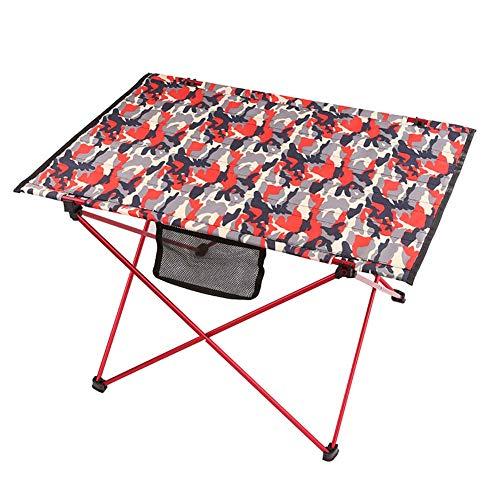 GUDESPORT Campingtisch klappbar, Aluminium Tarnung Rolltisch Roll-Up Gartentisch Reisetisch Campingmöbel 27.56 x19.68x17.72inch,Red