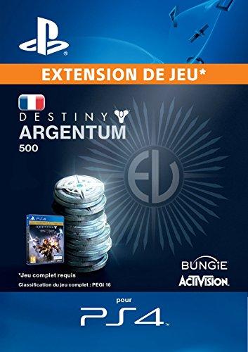 500 Argentum de Destiny [Code Jeu PSN PS4 - Compte français]