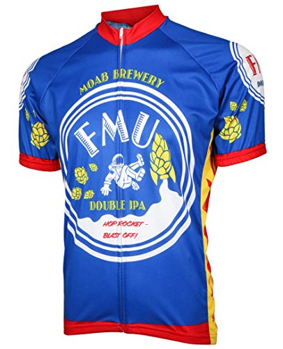 Moab Brewery FMU Men's Cycling Jersey (Large) Blue