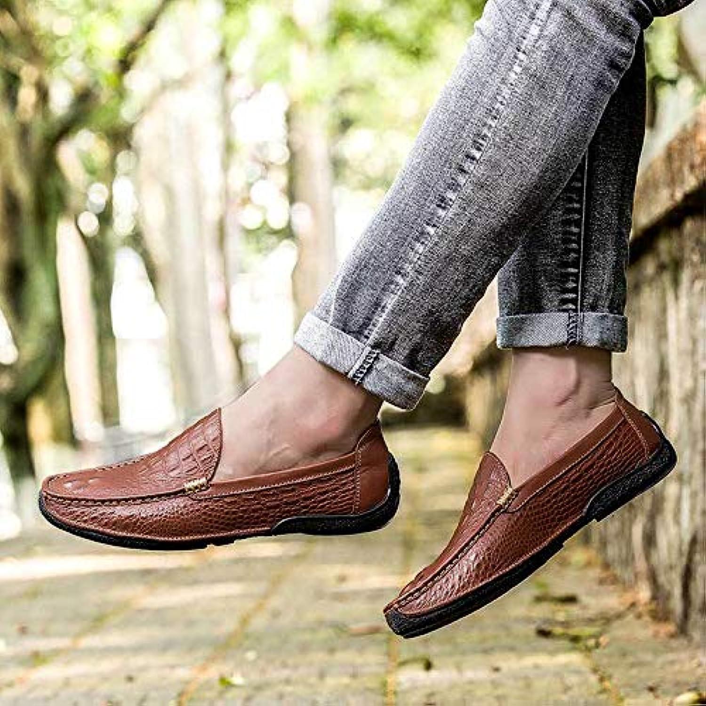 LOVDRAM Mnner Lederschuhe Frühling Und Herbst Herren Erbsen Schuhe Neue Krokoprgung Lederschuhe Faule Schuhe Mode Lssig Lederschuhe