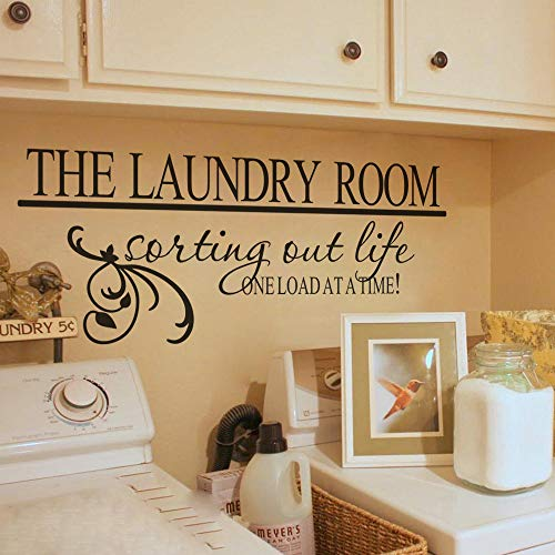 MoharWall The Laundry Room Sorting Out Life One Load an A Time Laundry Quotes Decal Art Vinyl Lettering Sticker Décor
