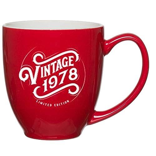 1978 41st Birthday Gifts For Women Men Red Mug