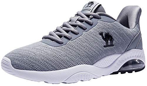CAMEL CROWN Men's Air Cushion Running Shoes Breathable Athletic Sneakers Gray Size 7.5