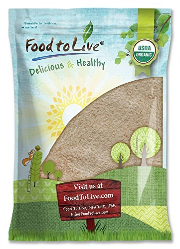 Organic Spelt Flour by Food to Live (Whole Grain, Non-GMO, Stone Ground, Raw, Vegan, Bulk, Great for Baking Bread, Product of the USA) — 8 Pounds