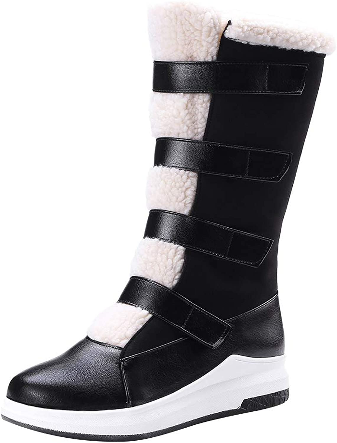 MAYPIE Womens Topale Synthetic Slip-on Mid Calf Boots