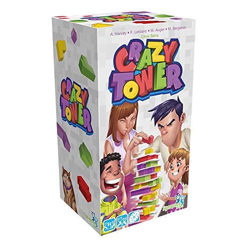 Asmodee Crazy Tower, Familienspiel, Geschicklichkeitsspiel, Deutsch
