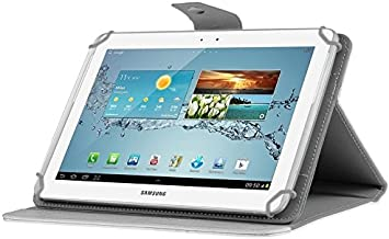 Tablet Covers, Universal Crazy Horse Texture Horizontal Flip Leather Case with Holder for 10 inch Tablet PC,Easy to Carry (Color : White)