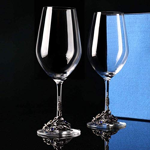Decantador de vino, Whisky Decanter Crystal Tinto Vino Decantador Set Mano Blown-Free Crystal Diamond Esmalte Vidrio Vino Rojo CARAFE Accesorios de vino Aeroador de vino con accesorios de vino de vino