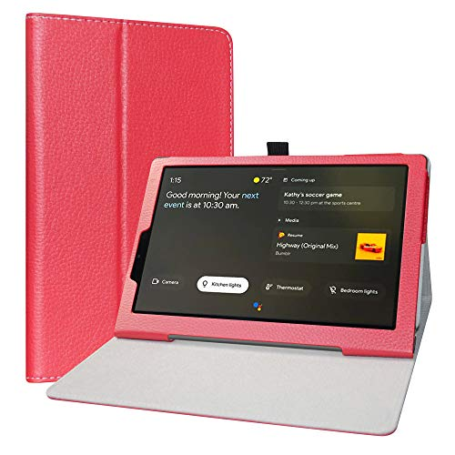 LiuShan Hoes voor Lenovo Yoga Smart Tab, Slim PU lederen tas en opvouwbare standaard Folio Cover Case Hoesje voor 10.1