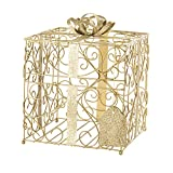 LUXURY FINISH: Made of contoured metal and finished with radiant gold matte and glitter MAKES THE PERFECT GIFT: Features a glitter gift tag; A fashionable, functional gift that any bride-to-be will love EASY TO ASSEMBLE & USE: Features cardboard inse...