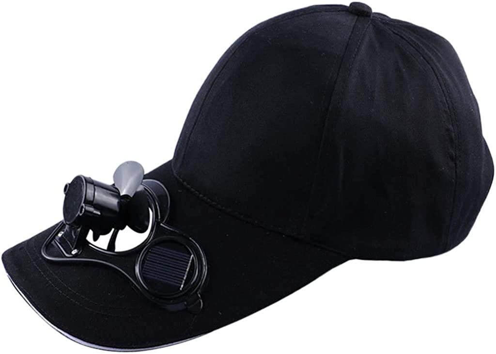 Neuvikter Fishing Summer Sport Outdoor Hat Cap with Solar Sun Power Cool Fan for Cycling Energy Save No Batteries Required