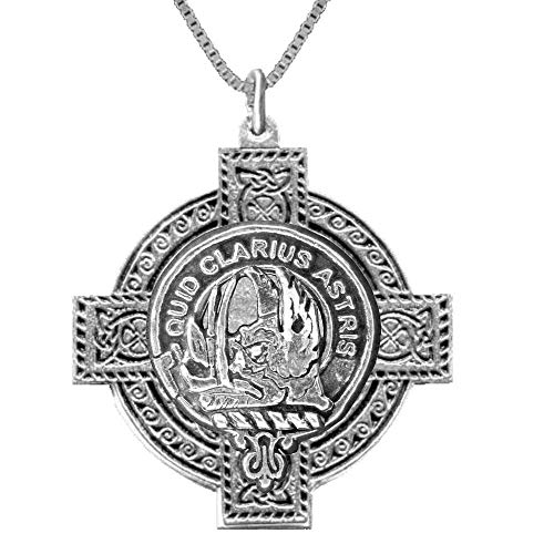 Baillie Scottish Clan Crest Celtic Cross Pendant