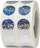 Plata Pegatinas de Círculos de Chispas, 13 mm 1/2 Pulgadas Etiquetas Holográficas de Puntos Brillantes 1000 Paquete