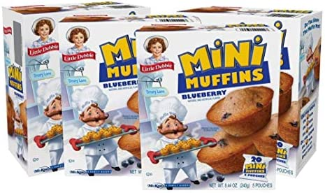 Little Debbie Blueberry Mini Muffins 20 Travel Pouches of Bite Size Muffins Baked with Real product image
