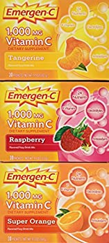 Emergen-c Vitamin C 1000mg 90 Packets 3 Variety Cartons NET Wt 29.1 ounce  828g