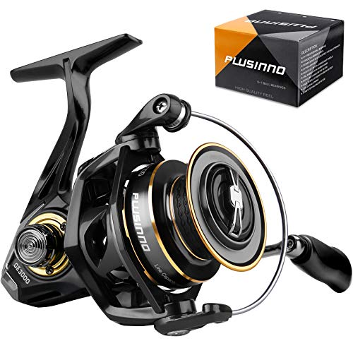 PLUSINNO Fishing Reel, 5.7:1 High Speed Spinning Reel,9 +1BB, Premium Drag System with17-22 LB Max Drag, Ultra Smooth Powerful, Lightweight Graphite Frame, CNC Aluminum Spool for Saltwater Freshwater