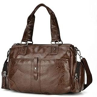 Luggage & Bags PU Leather Shoulder Travel Bag Leisure Sport Handbag (Black) (Color : Brown)