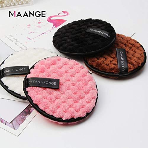 ZSBHF 4PCS réutilisable démaquillante Pads, réutilisables Démaquillants tampons de Coton de Nettoyage de Maquillage pour Le Visage Yeux lèvres.