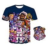 Five Nights Novelty Unisex Kids T-Shirt,Balaclava Face Mask 3D Digital Printing Design Pattern Children Cartoon for XL