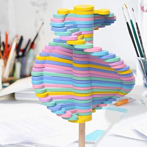 Un paquete de madera giratoria de descompresión Lollipop Rotary Relief Bar Juguetes Magic Wand Stress Relief Toy para niños adultos (color macarón).