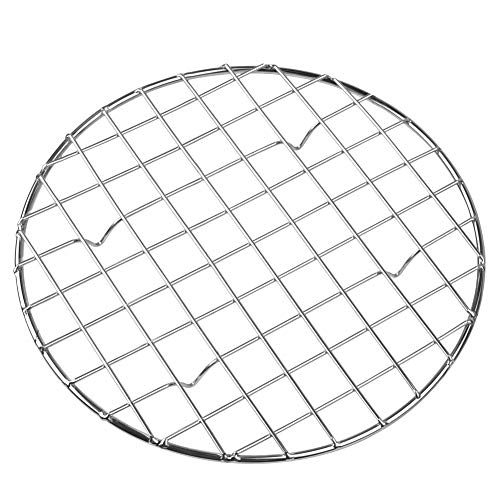 bafvt Cooling & Baking Rack - 304 Stainless Steel Round Grill Wire Rack for Rib, Bacon - Sheet Pan for Cookie and Cakes…
