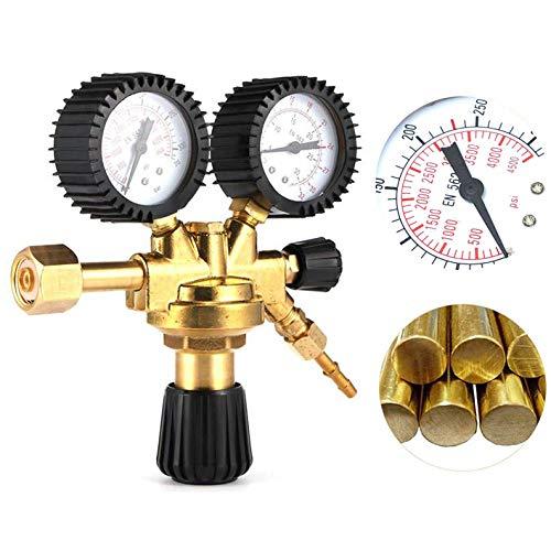 Homewit Druckminderer, Argon/ CO2 Einstellbares Druckminderer, Luftkompressor-Druckschalter-Steuerventil Regler, Für Argon CO2 Schutzgas Gasschweißregler zu MIG MAG TIG Schweißgerät
