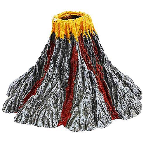 Volcán Acuario Pelele Simulación Acuario Paisaje Adornos Kit de Piedra Aire Pelele para Fish Tank Decoración L