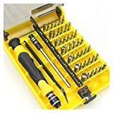 PHH Kit Destornilladores 45pcs Computadora Reloj Máquina Herramienta De Mantenimiento Combinación Destornillador Teléfono Móvil Desmontaje Conjunto Precisión iPhone (Color : Yellow)