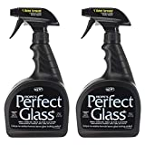 HOPE'S Perfect Streak-Free Glass Cleaner, Less Wiping, No Residue 32 Ounce, Pack of 2, 24 Fl Oz