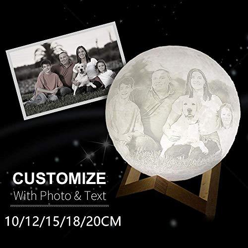 Kundenspezifische Mondlampe 3d Mond Lampe Mit Foto Und Text Bild Als Lampe Personalisiert Nachtlicht 3D-gedruckte Mondlaterne