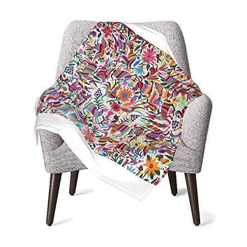 Ahdyr Manta para bebé Super Soft Otomi Fabric Mexico Art Printed 30 x 40 Pulgadas, recibiendo Mantas