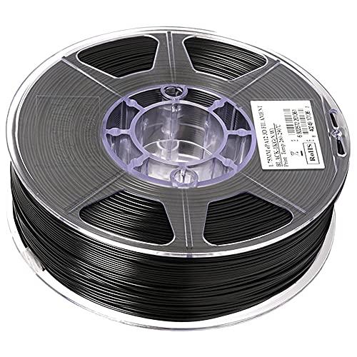 Nylon 12 Filamento PA12 Material 1.75mm Impresora 3D Filamento 1kg 2.2lbs Filamento de impresión 3D para impresora 3D-negro_1.75mm