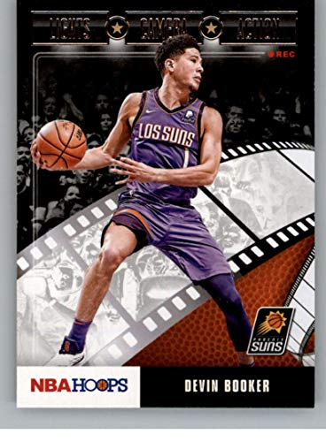 2019-20 NBA Hoops Lights Camera Action #25 Devin Booker Phoenix Suns Official Panini Basketball Trading Card Retail Exclusive Insert