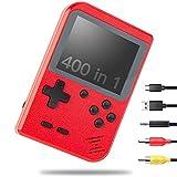 NIERBO Mini Consola de Juegos Retro Portátil, 400 NES FC Juegos Retro Pantalla LCD de 3 Pulgadas 800mAh Batería Recargable Admite Conexión de TV