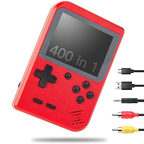 NIERBO Handheld Spielkonsole Retro Mini Handkonsole NES FC Spiele Konsole Videospielkonsole 400 Games