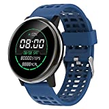 NONGLAN Smart Watch Uomo Donna Donna 24 Ore Blood Pressure Display Telefono Monitor della Frequenza Cardiaca Ip68 Fitness Smartwatch per iOS Android(Color:Blu)