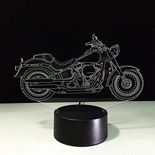Ilusión 3D Luz nocturna 7 colores LED Visión Cool Moto Escritorio Ed Atmósfera Regalo colorido Control remoto