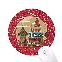 ロシアの大聖堂の建築赤の広場 円形滑りゴムの赤のホイールパッド