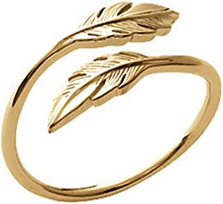 ISADY - Sury Gold - Bague femme - Plaqué Or 750/000 (18 carats) - feuille
